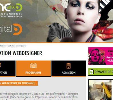 ecole webdesigner